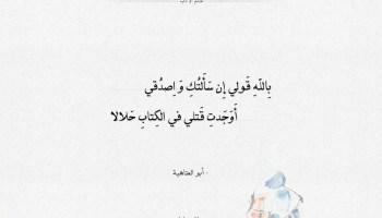 شعر أبو العتاهية أوجدت قتلي في الكتاب حلالا