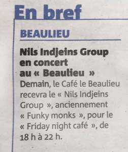 Nils dans Nice Matin (2017)
