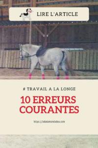 cheval longe 10 erreurs