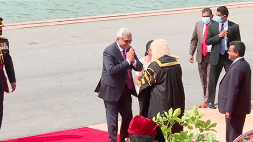 President arrives for ceremonial sitting of new Parliament