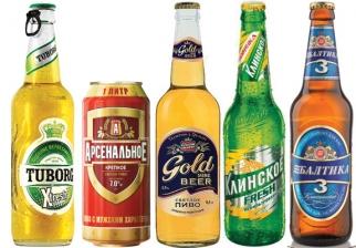 Russian beer brands
