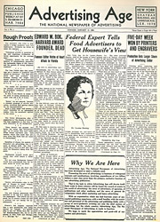 Ad Age's first issue, from 1930.
