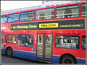 Digital is becoming the fastest-growing sector in out of home, says Hyperspace's James Davies, as shown by bus ads in London.