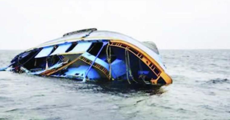 Boat Capsized along Lekki Shoreline, Lagos State, Nigeria.