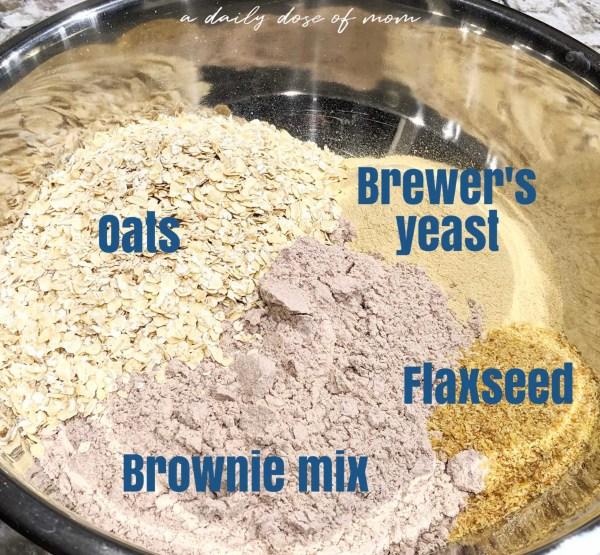 Lactation Brownie Boobie Bites Ingredients