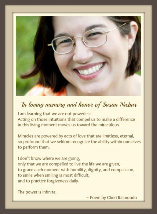 In Honor of Susan Neibur