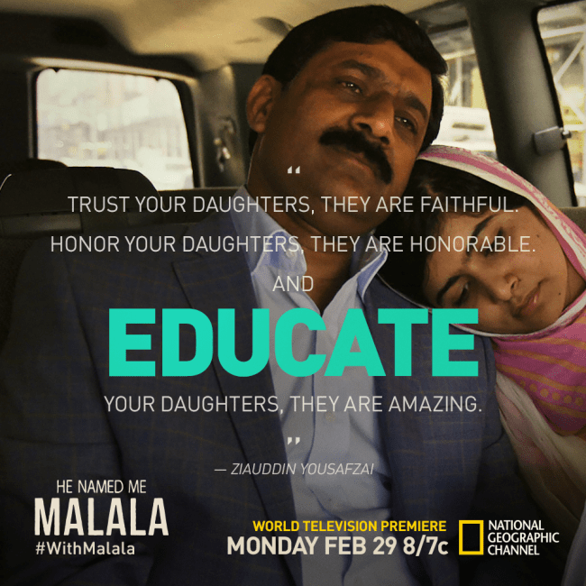 Watch He Named Me Malala on National Geographic #withMalala