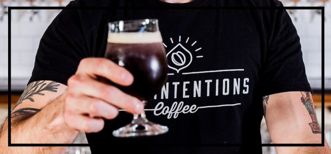 Cold brew coffee from Pure Intentions Coffee in Charlotte, NC