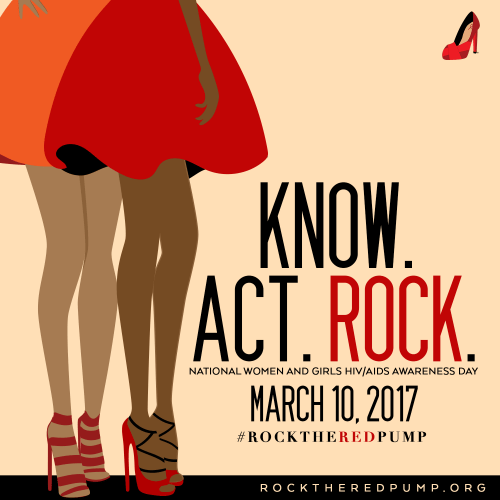 Rock the Red Pump to help create awareness for women everywhere about HIV/AIDS.