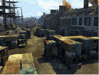 Assassin's Creed III Boston Harbor Scene