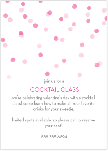 May Designs Valentine's Day Cocktail Party Invitations