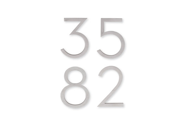 Neutral House Numbers are based on the iconic designs of Richard Neutra