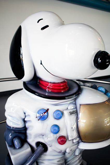 Snoopy at the Kennedy Space Center in Florida. {www.adailypinch.com}