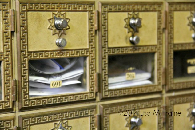 Mailboxes at the Mast General Store in Valle Crucis, NC