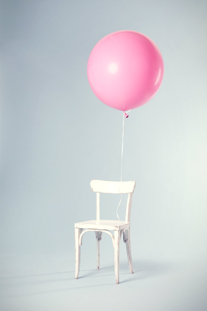 Creativity doesn't have to complicated. It can be as simple as a balloon tied to a chair.