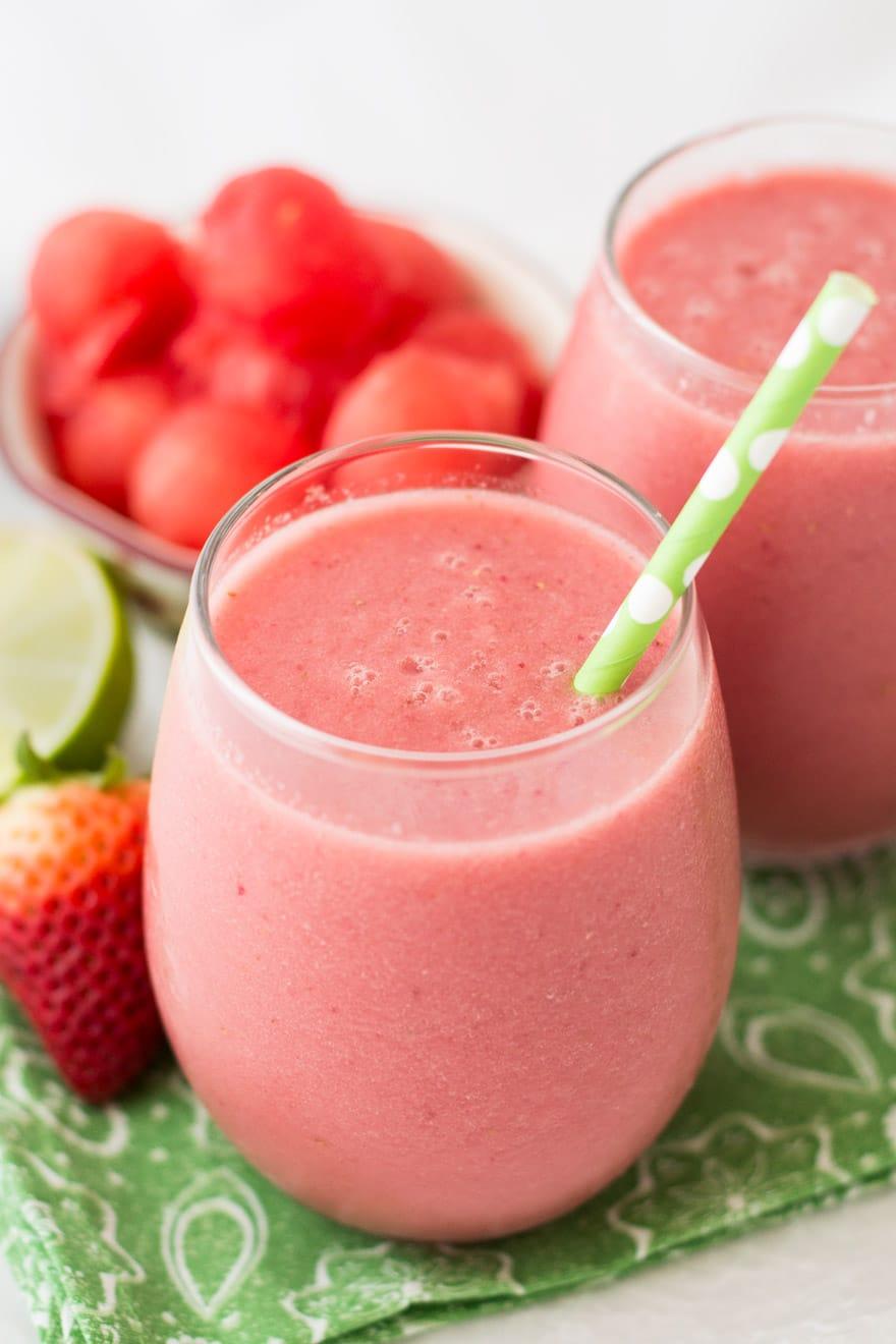 Watermelon Strawberry Drink Recipe