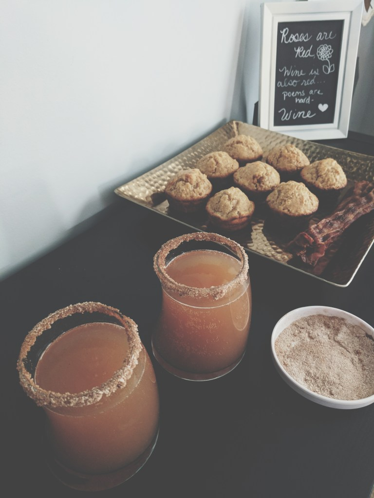 Apple cider mimosas are the perfect fall drink! Enjoy for brunch or as an addition to your Friendsgiving. Fall never tasted so good!