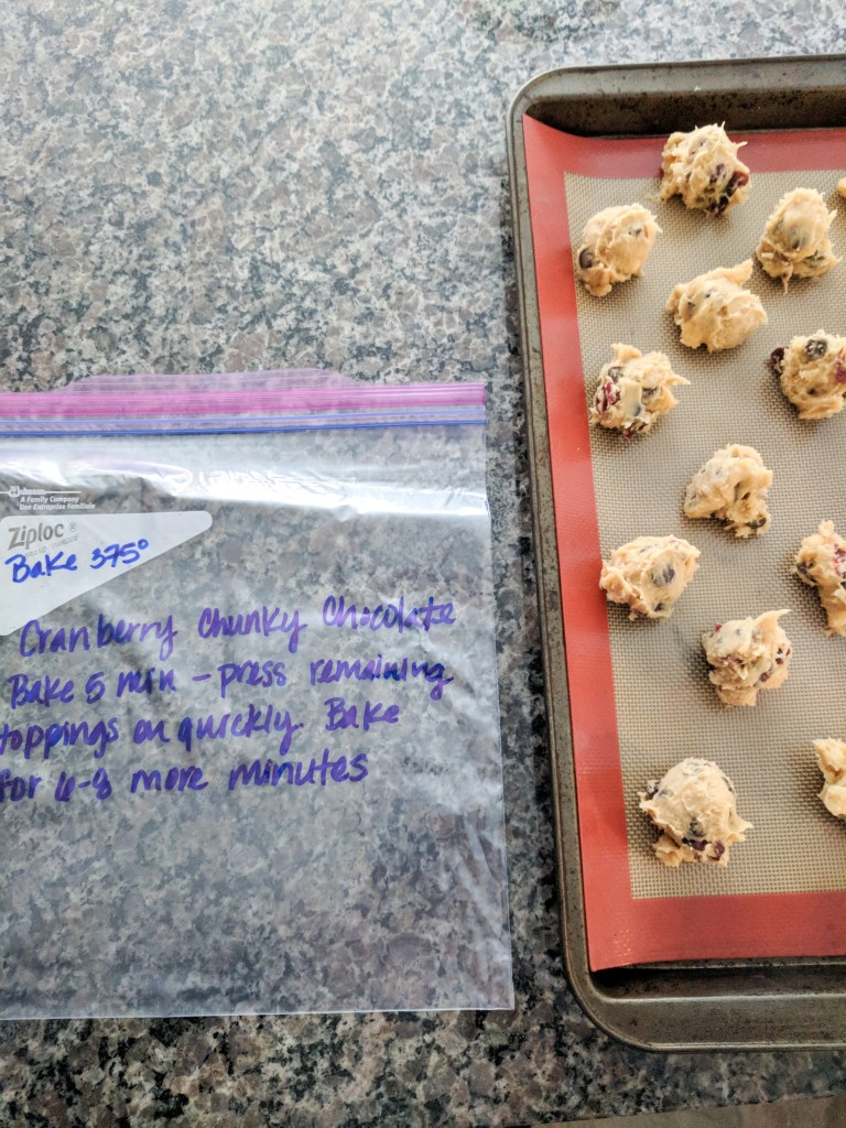 freezing cookies to bake later