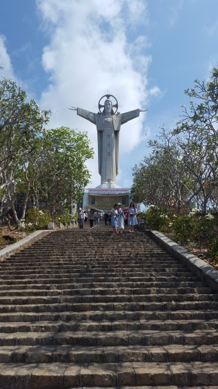 This is the Jesus statue on top of a hill/mountain by Vung Tau beach