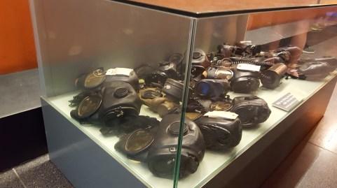 Masks worn by American soldiers to prevent inhalation of Agent Orange