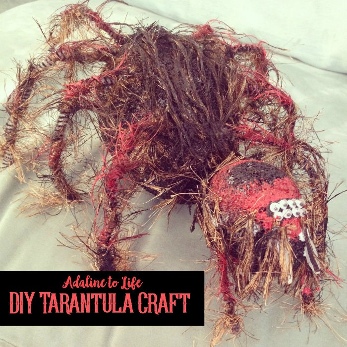 diy tarantula puppet craft
