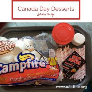 Canada Day Desserts supplies