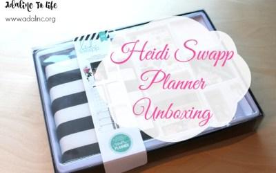 Heidi Swapp Planner Kit Unboxing
