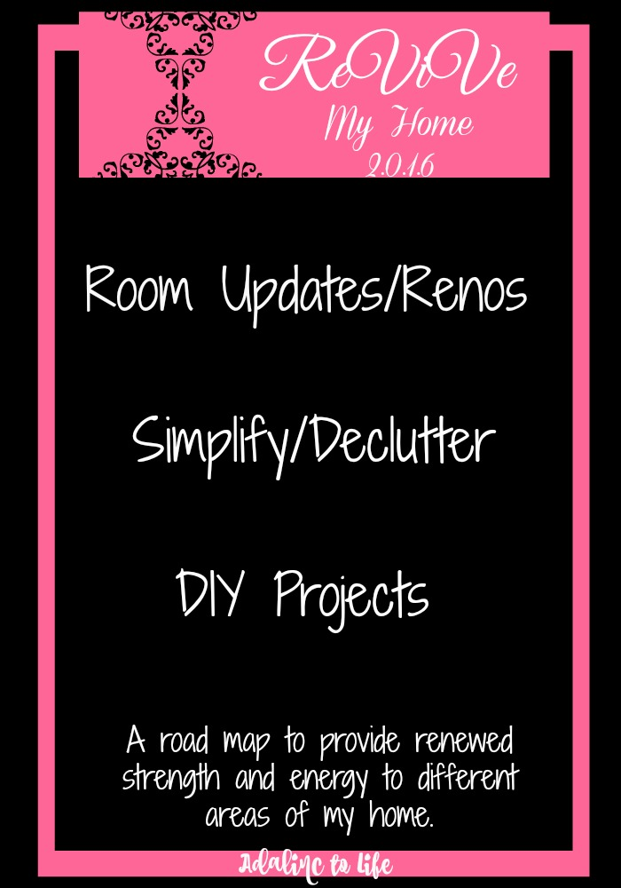 room updates, simplify/declutter, diy projects