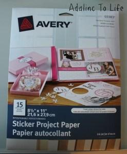 Avery Stickers Photo