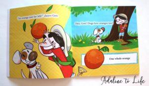 Goo and Spot Under the Orange Tree