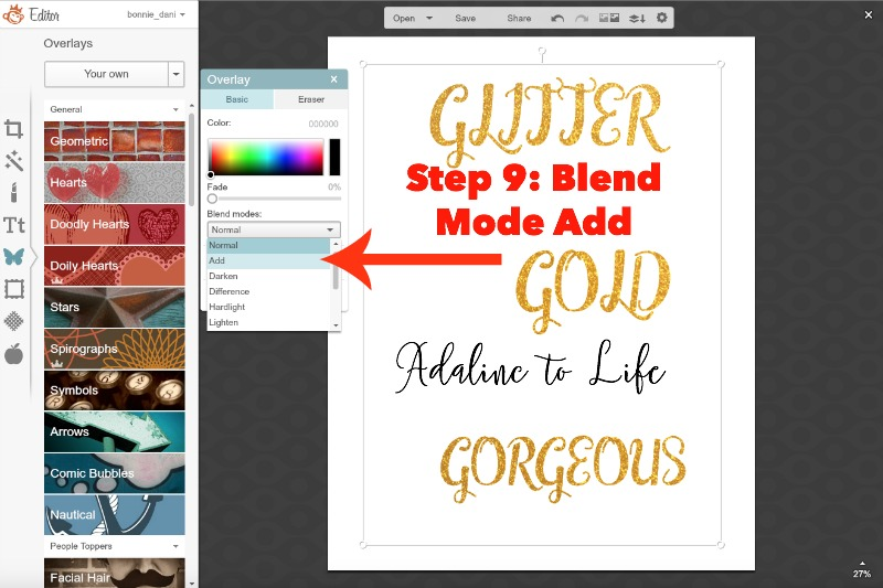 Glitter text tutorial