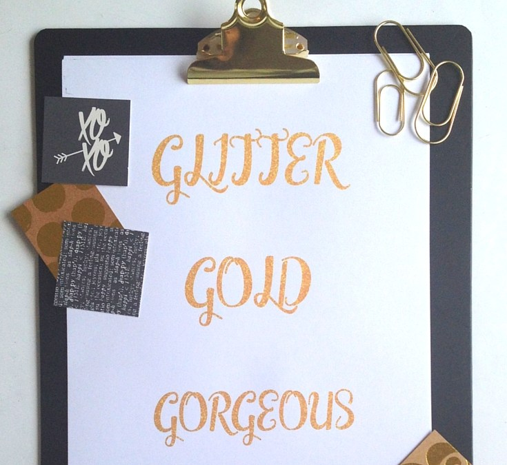 How to Create Your Own Glitter Text Printable Using PicMonkey