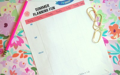 Summer Planning With Kids + Freebie Friday Printable