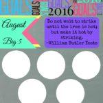 August Big 5 Goals Sheet