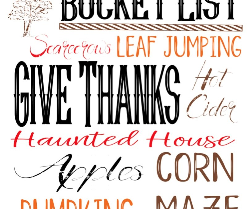 Welcome September and Free Fall Subway Art Printable