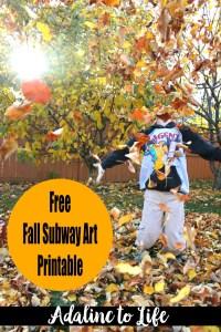 Free Subway Art printable pinterest pic
