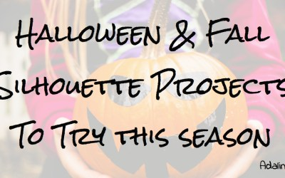 10 Fun & Easy Halloween & Fall Silhouette Projects