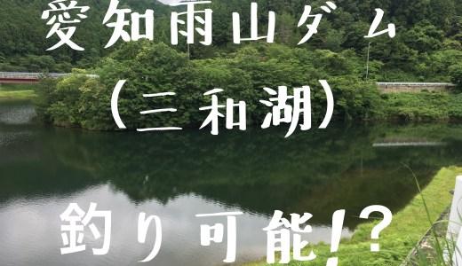 愛知県雨山ダムはバス釣り可能?!