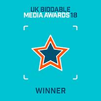 UK Biddable Media Awards 18 Winner