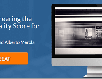 """Brad Geddes and Alberto Merola on the webinar """"Reverse Engineering the AdWords Quality Score for Lower CPC"""""""