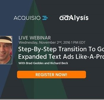 "Webinar ""Step-By-Step Transition To Google Expanded Text Ads Like-A-Pro"""
