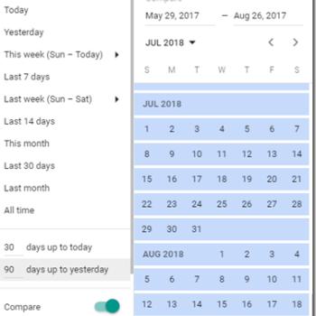 Google Ads timeframe options thumbnail