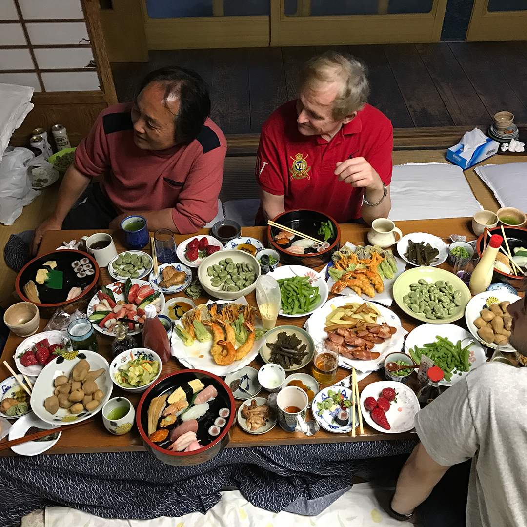 large table dinner in Japan