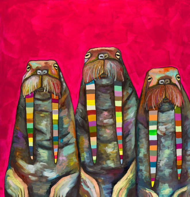 Walrus Trio - original artwork by Eli Halpin
