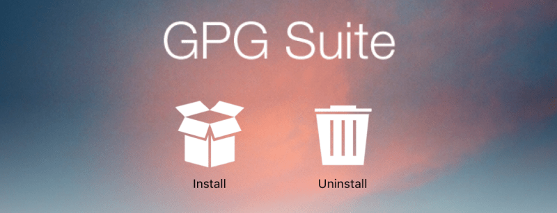 GPG Suite Installer Screen