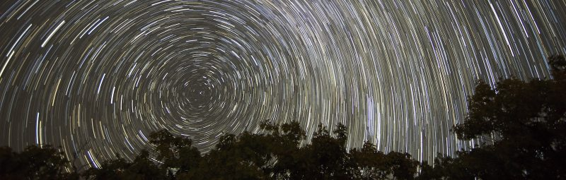 Timelapse of night sky