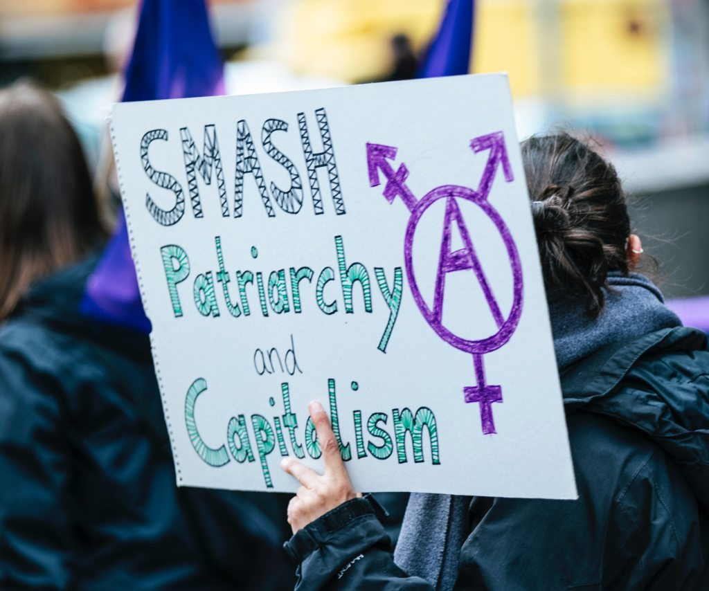 women campaigning against the patriarchy