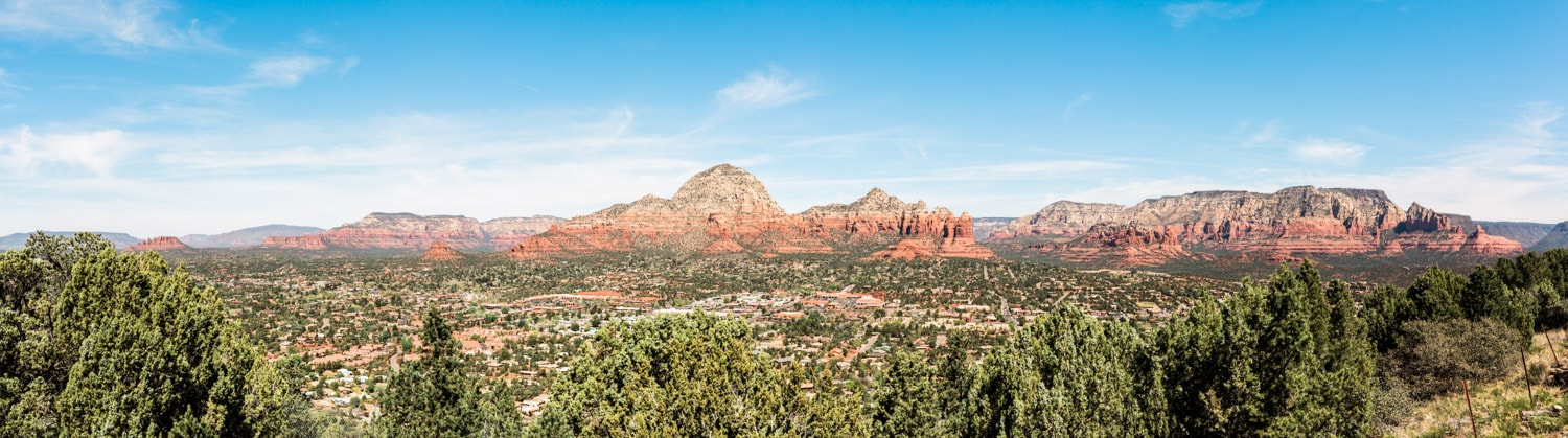 View of Sedona from Sky Ranch Lodge