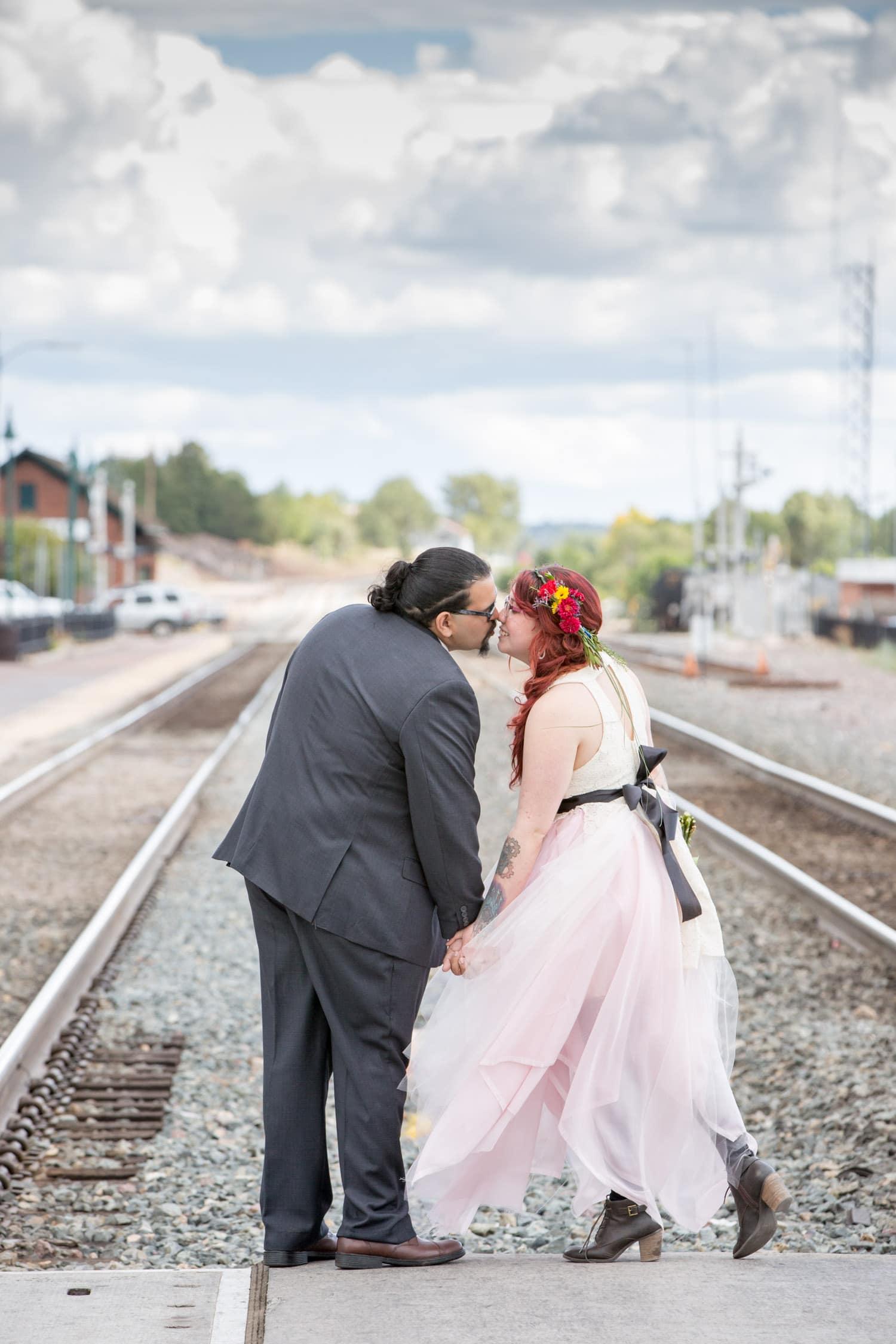 downtown flagstaff wedding photos