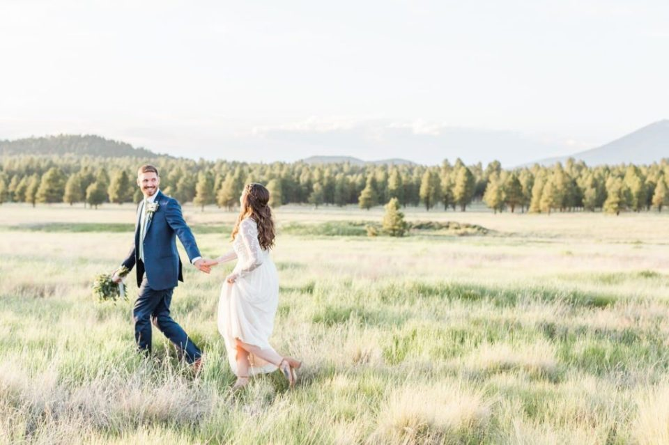 Northern Arizona wedding in the woods